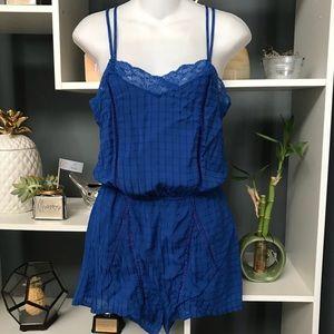    H&M    Royal Blue Shorts Romper